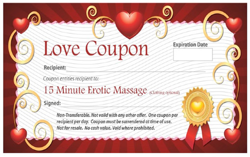Give Her This Erotic Massage Coupon