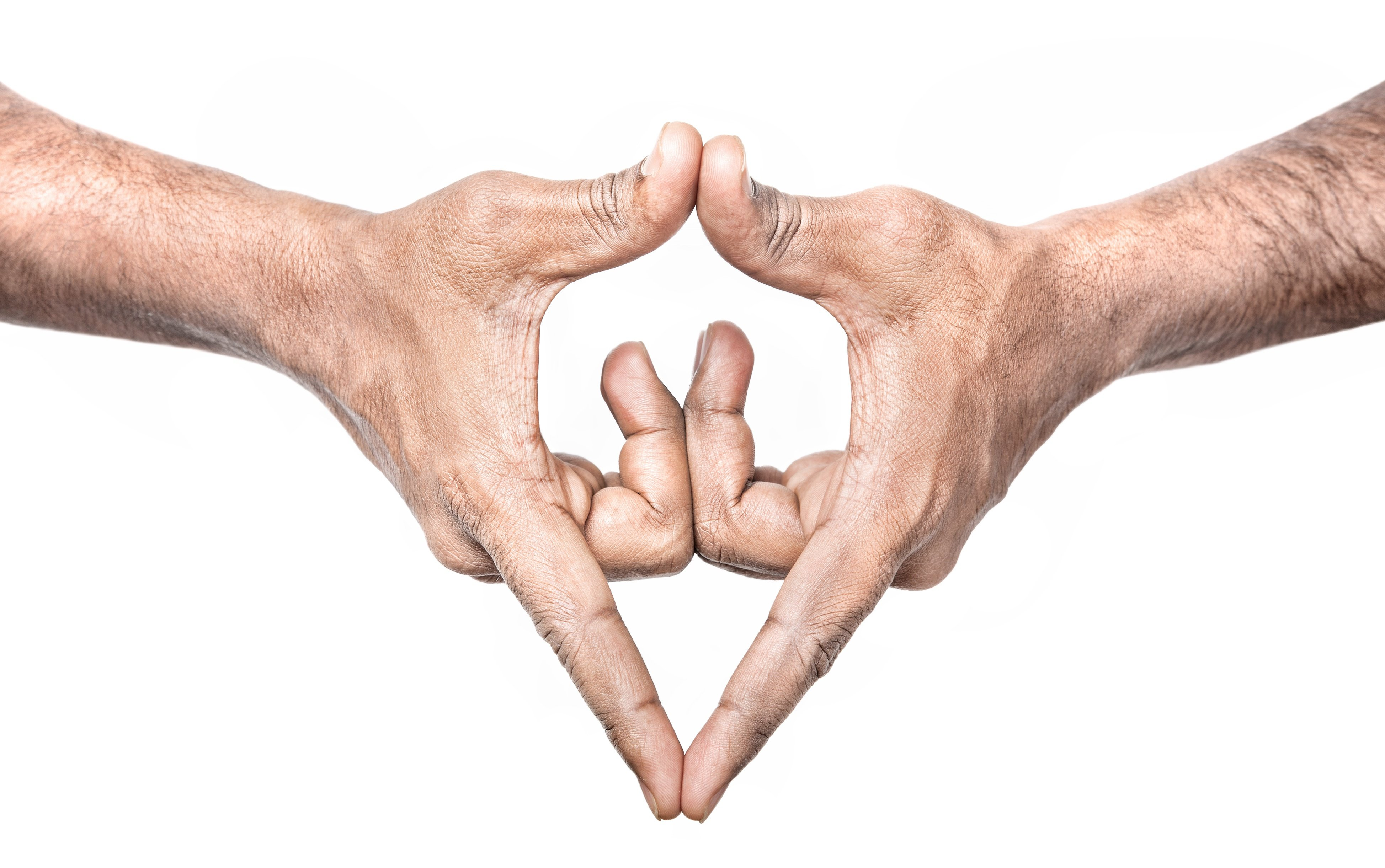 This is the hand gesture used in Yoga to represent a woman's vulva.