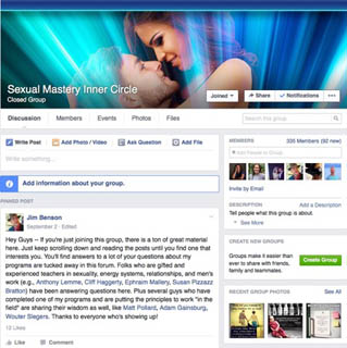 Sexual Mastery Inner Circle on Facebook
